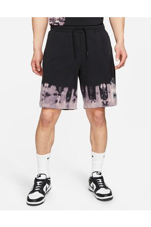 Nike Unity Swoosh ombre acid wash shorts in