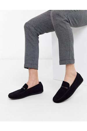 HUGO BOSS Dandy moccasin shoes in navy