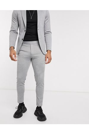 Only & Sons Slim fit soft deconstructed suit pants in -Grey