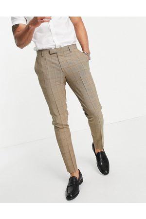 ASOS Summer wedding range super skinny suit pants in check