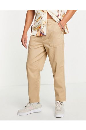 Farah Men Chinos - Hawtin relaxed fit pants in sand-Neutral