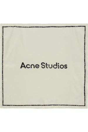 Acne Studios Branded scarf IVORY U