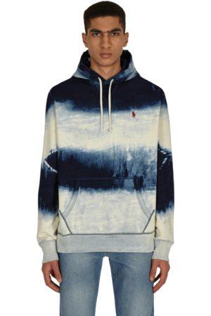 Polo Ralph Lauren Men Sports Hoodies - Indigo cotton-blend hooded sweatshirt DARK INDIGO CLOUD WASH S