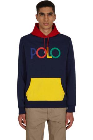 Polo Ralph Lauren Logo double-knit hooded sweatshirt NEWPORT NAVY S
