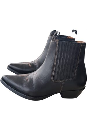 Soeur Leather Ankle Boots