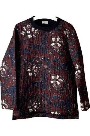 DRIES VAN NOTEN Burgundy Cotton Knitwear & Sweatshirts