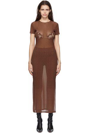 Miaou Brown Mesh Billie Dress