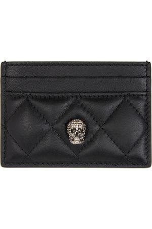 Alexander McQueen Black Pave Skull Card Holder