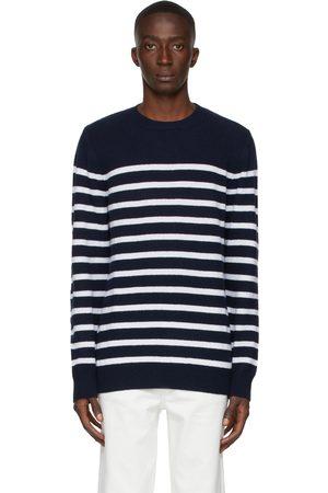 A.P.C. Navy & White Travis Sweater
