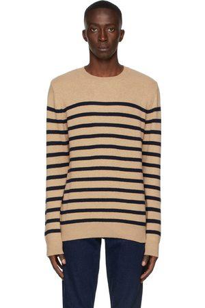 A.P.C. Beige & Navy Travis Sweater