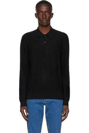 A.P.C. Black Kyle Long Sleeve Polo