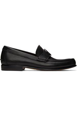 Salvatore Ferragamo Black 'SF' Ornament Loafers