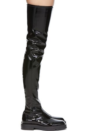 Givenchy Women Thigh High Boots - Black Patent Tall Boots