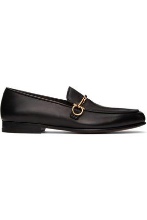 Salvatore Ferragamo Black Calfskin Loafers