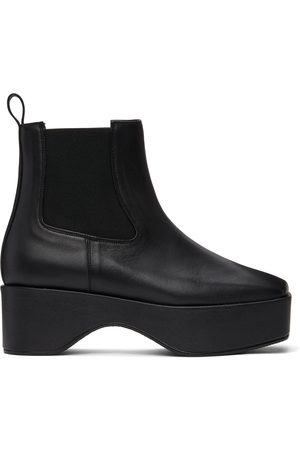 Flat Apartment Squared Toe Chelsea Boots
