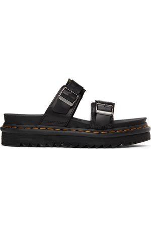 Dr. Martens Black Leather Myles Brando Sandals