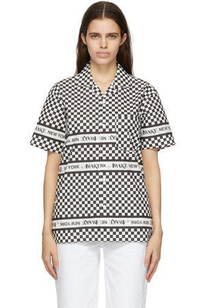 AWAKE NY & White Checkerboard Logo Short Sleeve Shirt