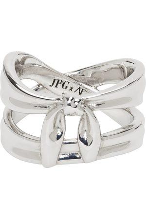Jean Paul Gaultier SSENSE Exclusive Silver Alan Crocetti Edition Double Wrap Bandana Ring