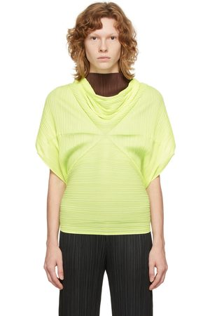 PLEATS PLEASE ISSEY MIYAKE Yellow Sprout Scarf