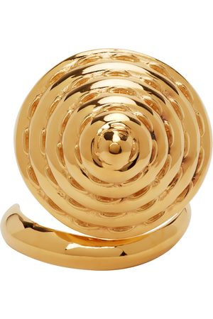 Jean Paul Gaultier Men Rings - SSENSE Exclusive Gold Alan Crocetti Edition Cone Bra Knuckle Ring