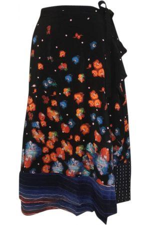 SUNO Women Skirts - Multicolour Silk Skirts