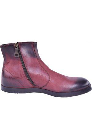 Dolce & Gabbana Burgundy Leather Boots