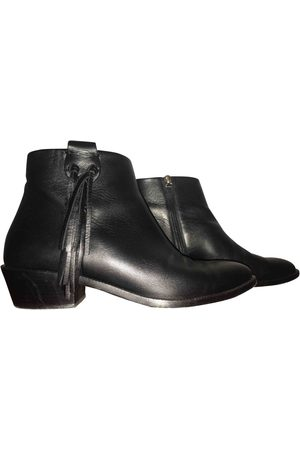 Valentino Garavani Women Ankle Boots - Leather western boots