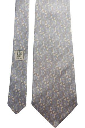 Loewe Grey Silk Ties