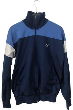 PUMA Men Sweatshirts - Navy Cotton Knitwear & Sweatshirts
