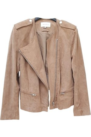 Sandro Camel Suede Leather Jackets