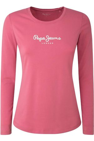 Pepe Jeans New Virginia Long Sleeve T-shirt L Washed Berry