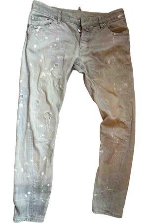 Dsquared2 Grey Cotton Jeans