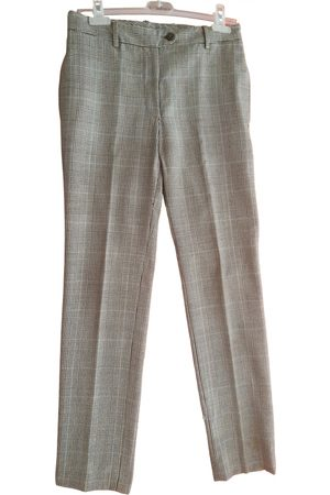Dolce & Gabbana Grey Wool Trousers