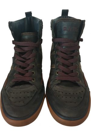 D.A.T.E. Leather Trainers