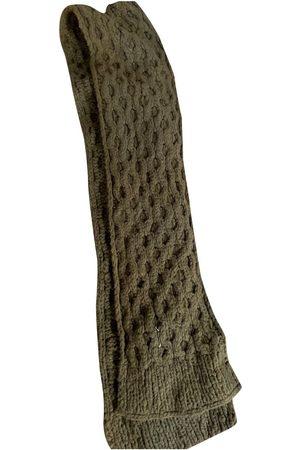 Maison Martin Margiela Khaki Wool Scarves & Pocket Squares