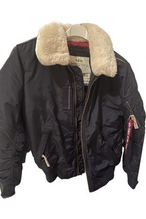 Alpha Industries Men Jackets - Navy Polyester Jackets