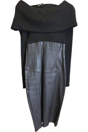 JITROIS Women Midi Dresses - Leather mid-length dress