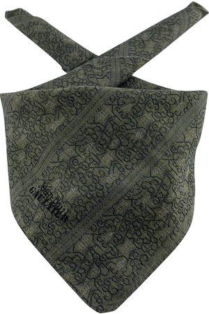 Jean Paul Gaultier Khaki Cotton Scarves