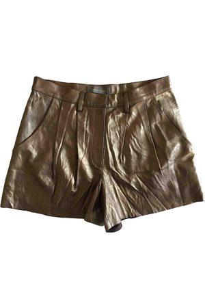 innamorato Metallic Leather Shorts