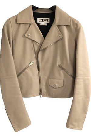 Loewe Women Leather Jackets - Grey Leather Leather Jackets