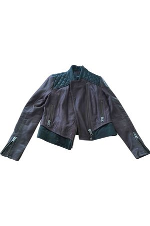 The Kooples Burgundy Leather Leather Jackets