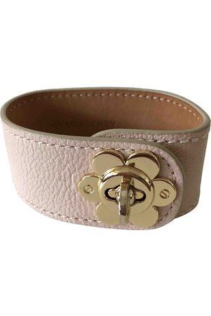 MULBERRY Ecru Leather Bracelets