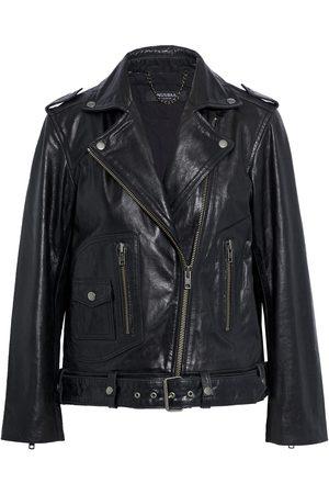 Muubaa Woman Emilia Leather Biker Jacket Size 10