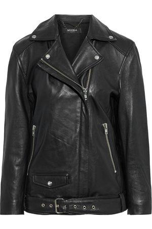 MUUBAA Woman Oversized Leather Biker Jacket Size 10