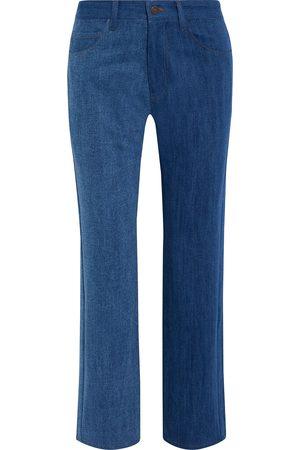 REJINA PYO Woman Toby Two-tone High-rise Straight-leg Jeans Size 28