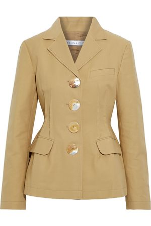 REJINA PYO Woman Etta Pleated Cotton-twill Blazer Size 8