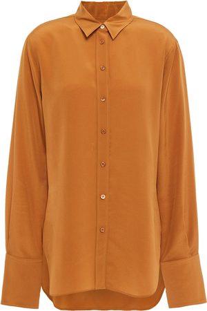 JOSEPH Woman Silk Crepe De Chine Shirt Camel Size 36