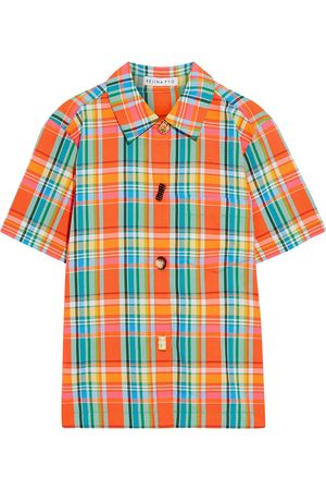 REJINA PYO Woman Nico Checked Jacquard Shirt Bright Size S
