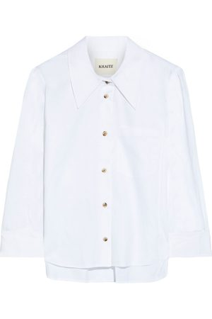 Khaite Women Shirts - Woman Kaylie Cotton-poplin Shirt Size S