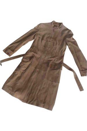 Max Mara Camel Suede Trench Coats